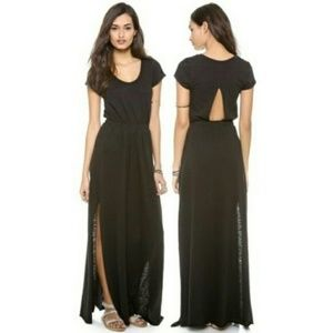 FREE PEOPLE Beach Andrina Maxi Black Cut Out Dress